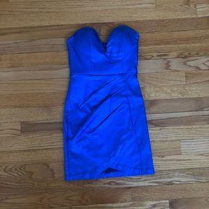Metallic blue dress
